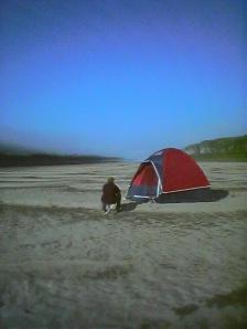 Peace River-D & tent