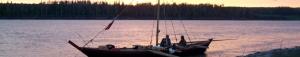 york boat sunset banner