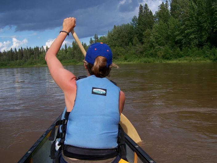 canoeing on the Chinchaga river