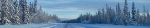 winter highway banner