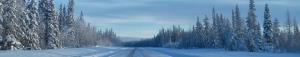 winter highway banner