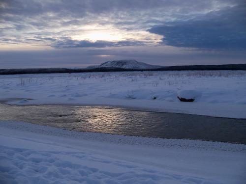 Hodgson Creek as it gets closer to the Mackenzie
