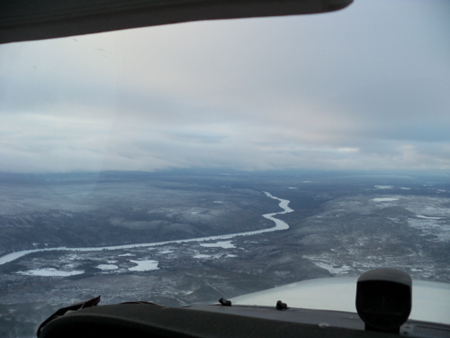 Not sure which river this is... The Mackenzie is much farther to the left.