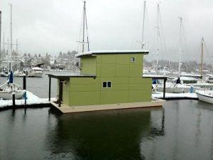 An adorable houseboat