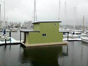 An adorable houseboat