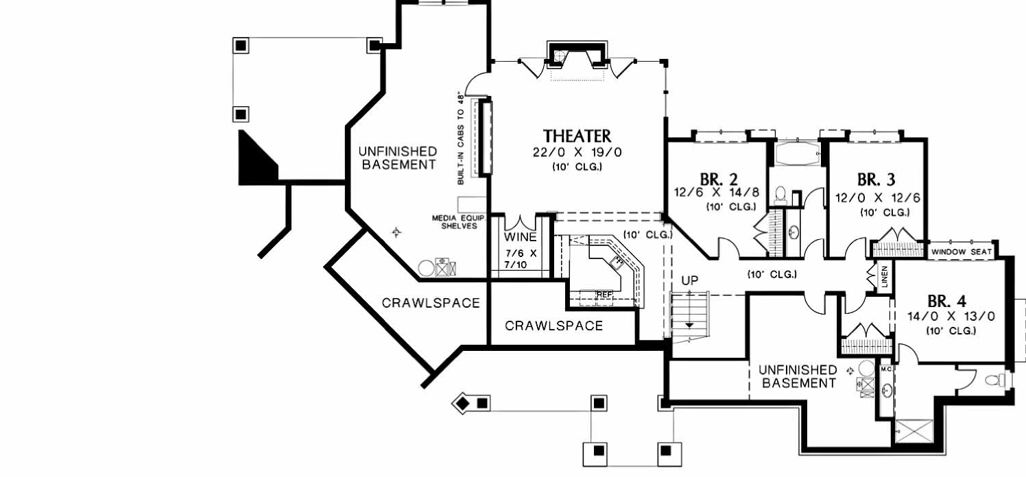 Big House Floorplan  Original Lower Floor