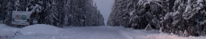 winter road banner