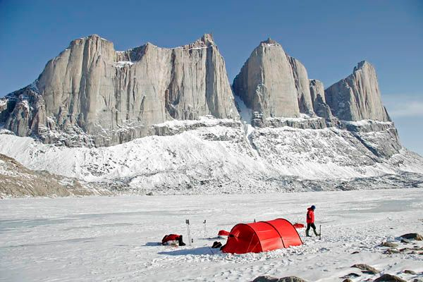 baffin island and tent
